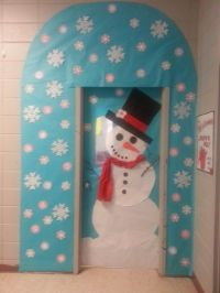 winter door decorating in kindergarten | just b.CAUSE
