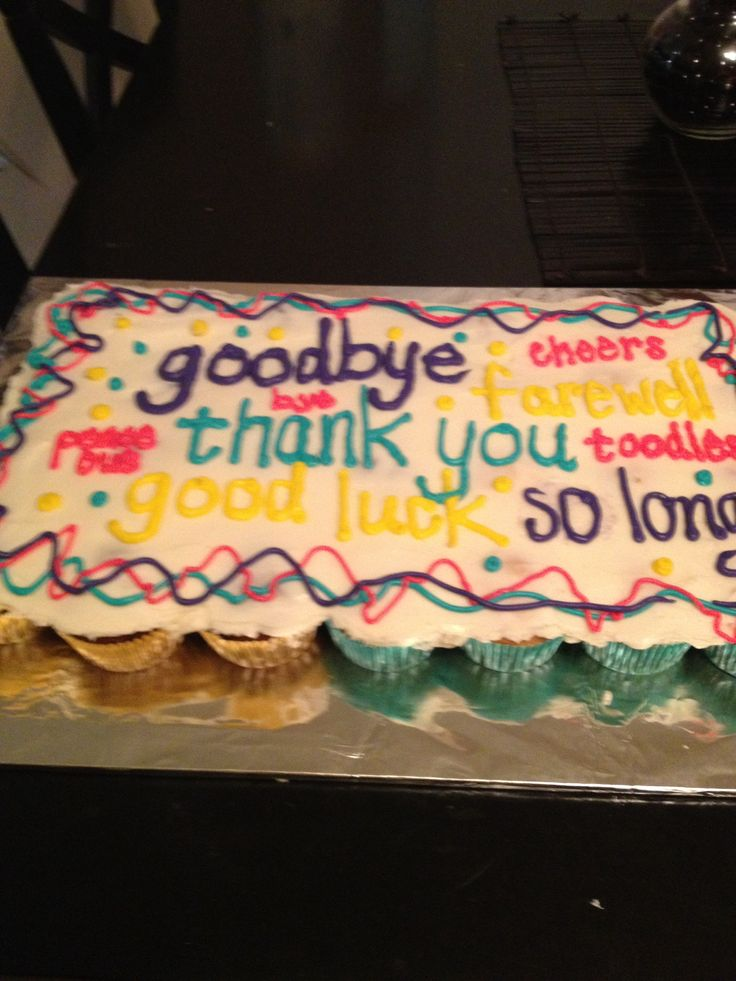 Cake Retirement Wording Wishes