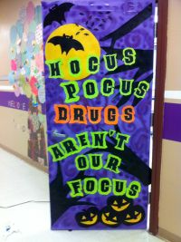 Red Ribbon Week door decoration | Teaching | Pinterest
