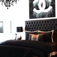 Black + Chanel Bedroom Inspiration | For the Home | Pinterest