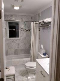 White Carrera marble bathroom   home   Pinterest