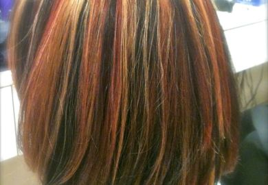 Tri Color Hair Highlights Pictures