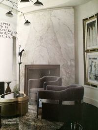 Marble slab fireplace | For the Home | Pinterest