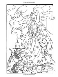 Wondrous Wizards (Dover Coloring Books) | Coloring pages ...