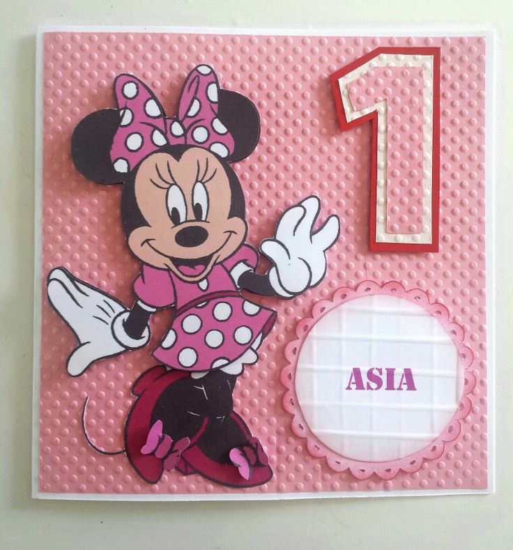 Minnie Mouse Birthday Card Cards Kids Pinterest