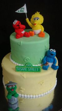 sesame street baby shower | Specialty cakes | Pinterest