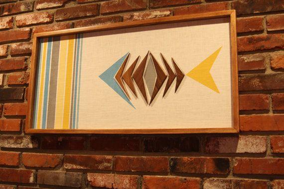 Mid Century / Danish Modern WITCO Styled Tiki Fish Wall Art