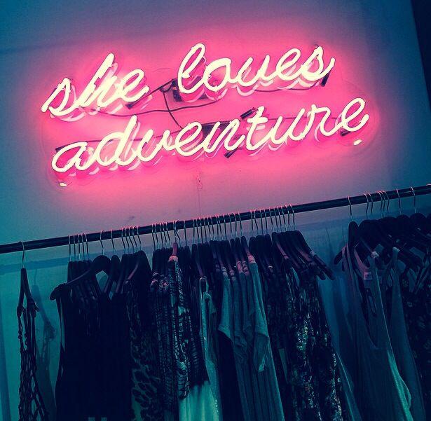 She Loves Adventure Neon Sign
