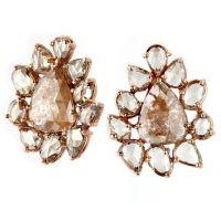 Diamond Earrings: Raw Diamond Earrings