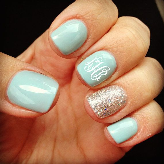 Monogram Manicure- Nailed It! 12 Nail Art Designs for Your Wedding Day