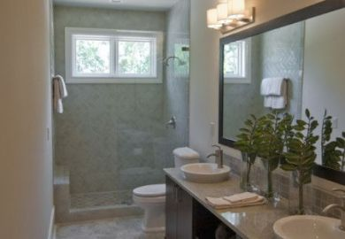 Small Narrow Bathroom Design Ideas