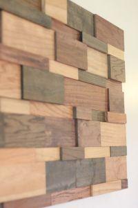 Modern Wood Wall Art 24x48