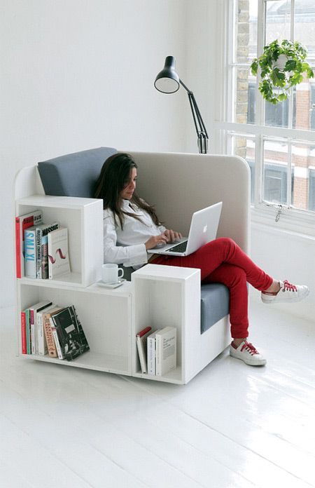 A creative and cool chair for spending quality reading time, created by Studio TILT.