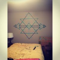 Washi tape wall art | Washi Tape | Pinterest