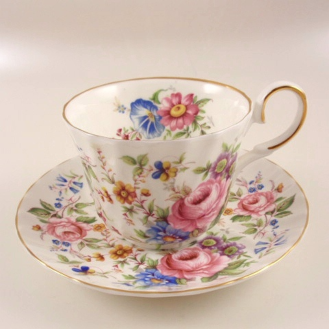 Royal Patrician Fine Bone China Floral Bouquet Cup & Saucer