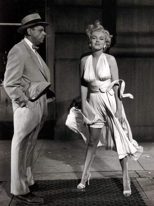 Marilyn and Tom Ewell on the set of The Seven Year Itch