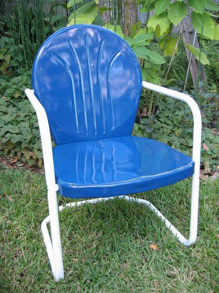 Retro lawn chair  something in blue  Pinterest
