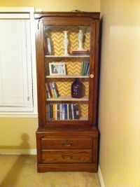 Old gun cabinet turned into a bookshelf! | Home Sweet Home ...