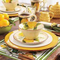 Lemon design dinnerware   Beautiful Dishes and Table ...