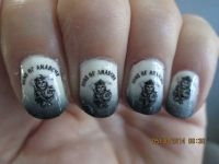 my sons of anarchy nails :) | Nail Art | Pinterest