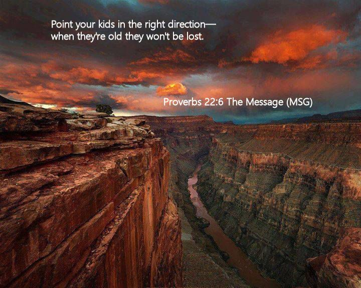 Proverbs 22.6 The Message (MSG)