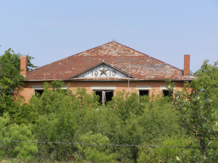 Abandoned school at indian gap texas photography old