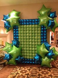 Foil and latex balloon wall | Balloon Backgrounds Walls ...