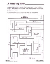Free Math Worksheets & Puzzles | Ava's Math | Pinterest