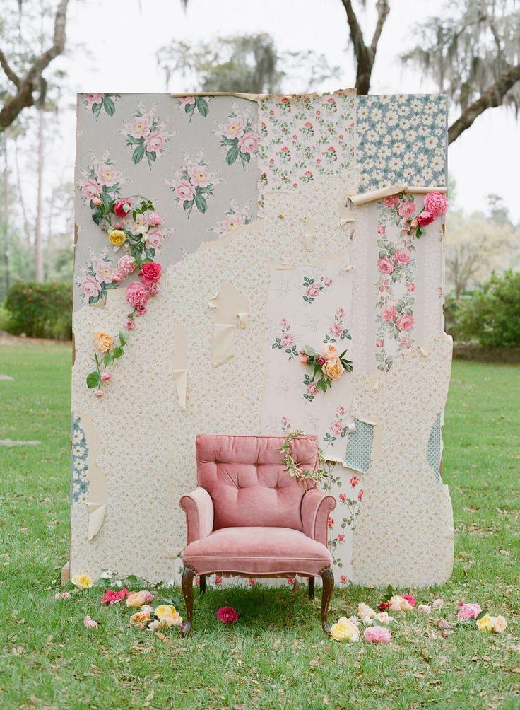 Vintage floral backdrop