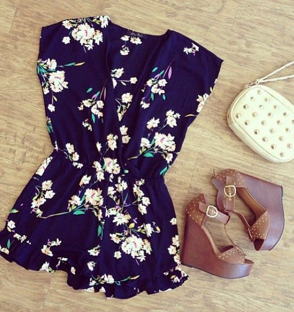 floral romper - can you tell I have spring and summer on my mind?