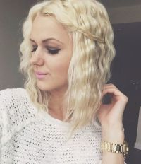 Crimped hair with a braid | My