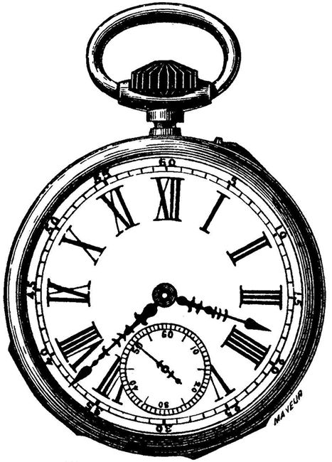 Pocket Watch clip art