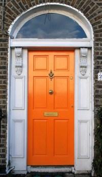 orange front door | For the Home | Pinterest