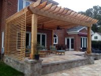 Pergola privacy screen | Backyard idea's | Pinterest