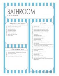 Bathroom Cleaning Checklist (free printable)