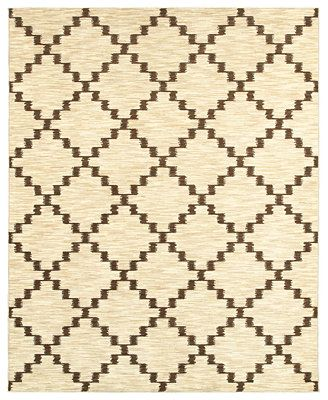 Shaw Living Area Rug, Neo Abstracts 02100 Atrium Linen 5' x 7'9""