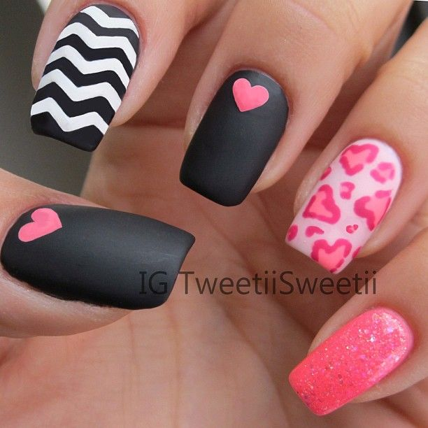 Matte nails, really cool!