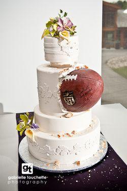 wedding cake, weddings, football