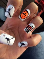 basketball nails marvelous makeup
