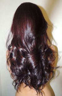 red violet brown hair color with highlights red violet ...