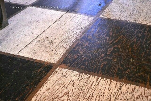 Plywood painted floor  For the Home  Pinterest