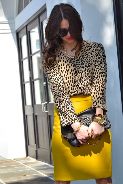 Leopard and mustard