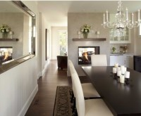 Houzz.com two-way fireplace | Home Base. | Pinterest