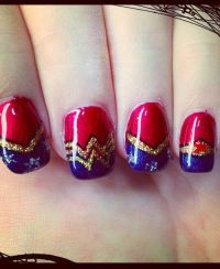 Sparkle Nail Art Design wonderwoman | My Style | Pinterest