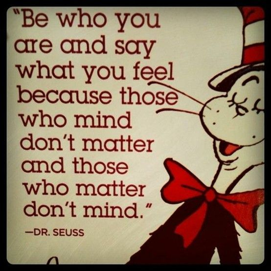 Be who you are.  :)!
