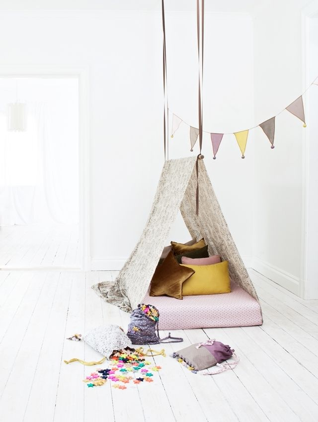 DIY tee pee bed / Mokkasin