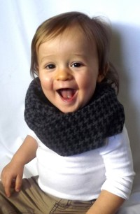 RESERVED Toddler Scarf, Boys' Infinity Scarf, Checkered ...