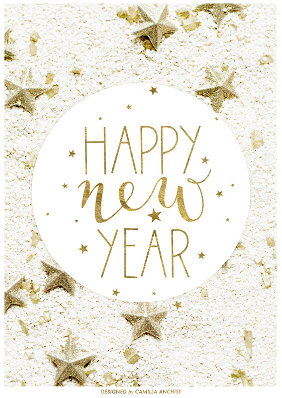 2013....Happy New Year!  Graphic Design by Camilla Anchisi