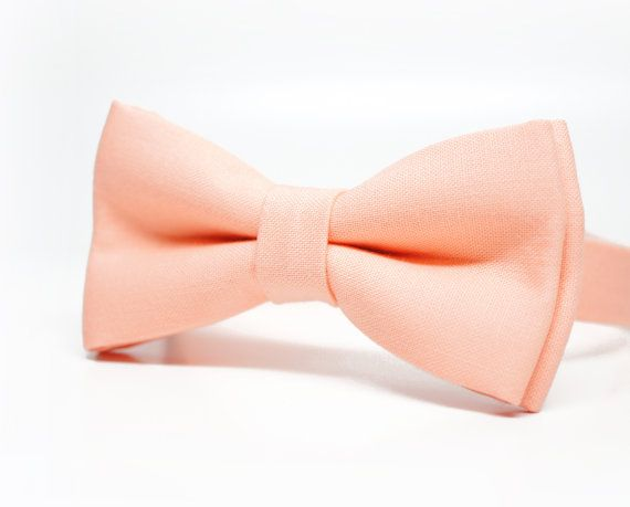 Peach Bow Tie for Boys, Toddlers, Baby