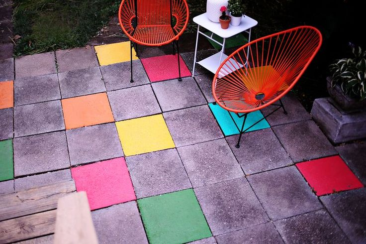 painting patio squares